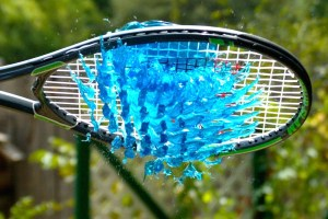 WATCH IN SLOW MO: Jelly Whacked By Tennis Racket Is A Beautiful Disaster - TexasNepal
