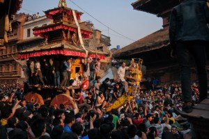 Man Run Down By Chariot During Bisket Jatra - TexasNepal