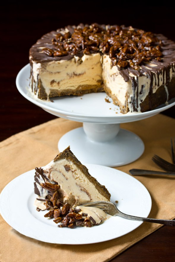 Turtle-Pumpkin-Ice-Cream-Cake