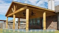Popiak Cedar Gable Patio Cover Project - Houston TX