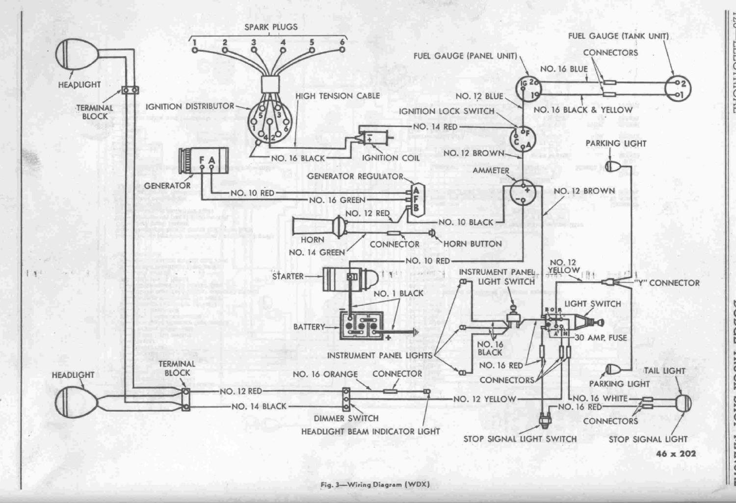 1947 dodge truck wiring diagram