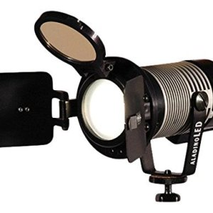 Ianiro-A197060AB-1972-3pk-Bicolor-Aladino-on-Camera-Light-with-D-Tap-and-Barndoor-Pack-of-3-Black-B01CO2K6Y6