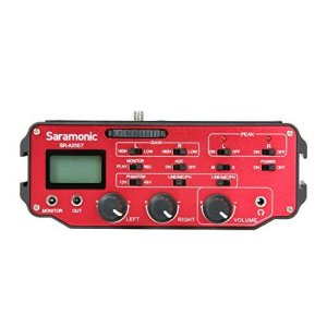 Saramonic-SR-AX107-2-Channel-Transformer-XLR-Audio-Adapter-with-Phantom-Power-Monitor-RedBlack-B00SSLCON4