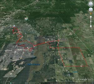 Ride Route Google Earth