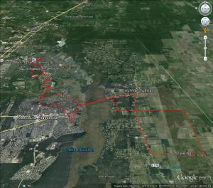 Ride route- Google Earth