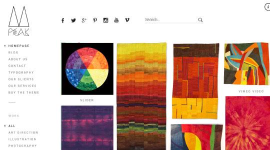 Peak - a brilliant artist wordpress theme - TextileArtistorg