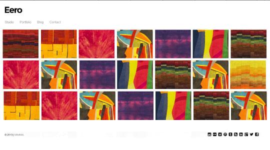 Eero minimalistic Wordpress theme for artists - TextileArtistorg