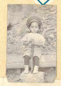 Indian child cricketer
