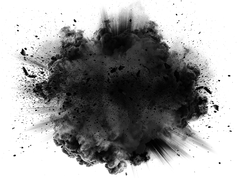 Black Brick Wallpaper Explosion Effect Png Transparent Stock Image Fire And