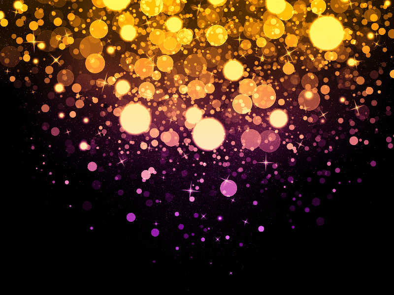 Purple Falling Circles Wallpaper Magic Light Background With Glitter Sparkle Effects Bokeh