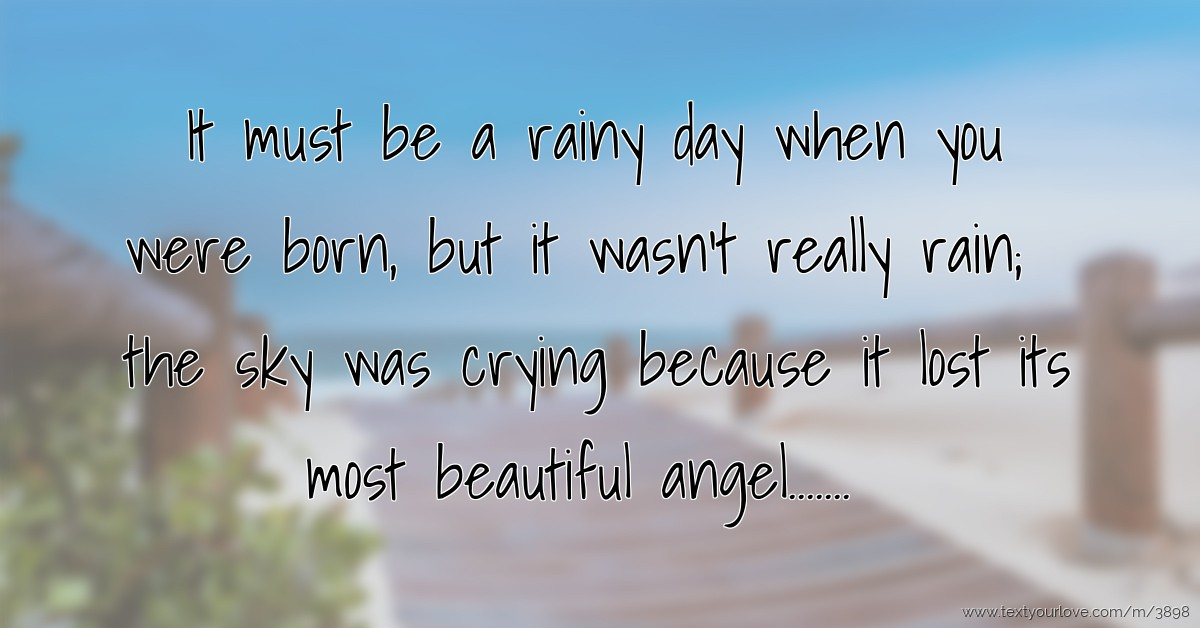 Crying Girl Wallpapers Rain It Must Be A Rainy Day When You Were Born But It