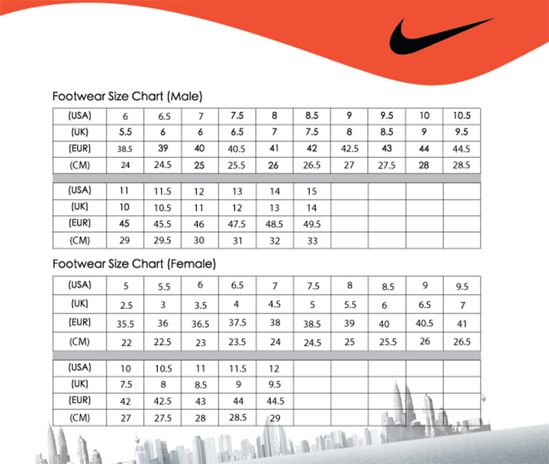 Best Of Nike Shoe Conversion Chart Masterlistreignluxury