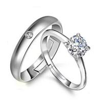 18 Styles His & Hers Rings Silver Couple Promise Rings ...