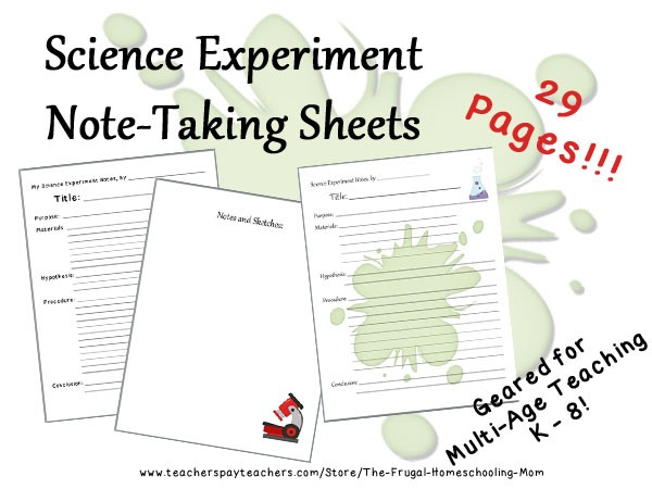 Free Scientific Experiment Lab Note Sheets - Limited Time! \u2013 The