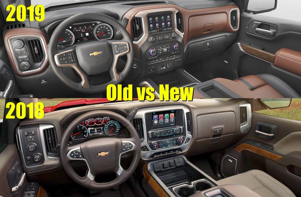 2018 vs 2019 chevy silverado 1500 interior