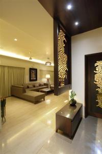 Mr. Vipul Dharsandiya-Foyer jali partition by Archis Patel ...