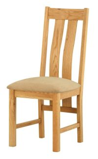 Portland Oak Dining Chair - Upholstered Seat