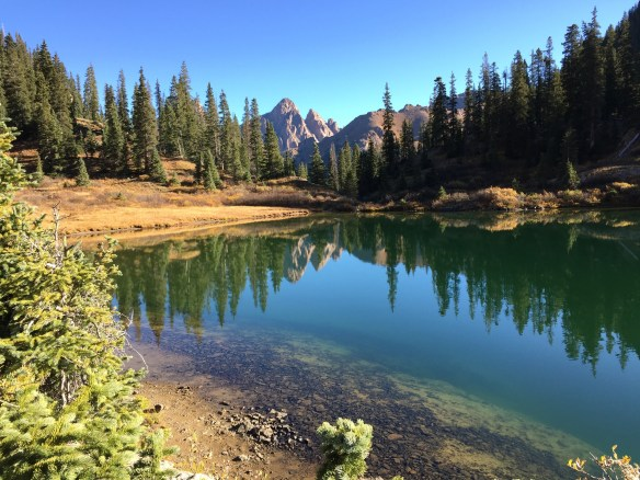 Emerald Lake with Turret Peak 13,835 in background - Double click