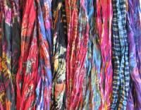 Tie Dye Crinkle Scarves - Unique Mudmee Tie Dye as ...