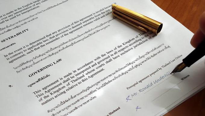 Prenuptial Agreement Thai English Template - Paid Downloads - sample prenuptial agreement template