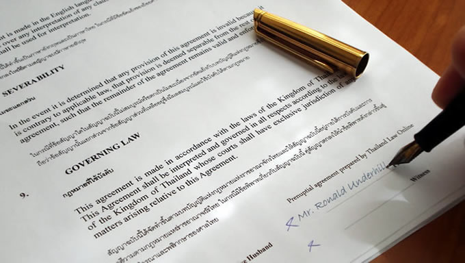 Marriage Contract Prenuptial in Thailand Article (older) Archive - marriage contract