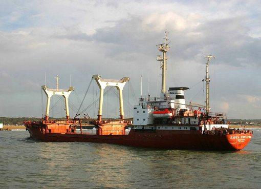 Russian Pavel Korchagin cargo ship