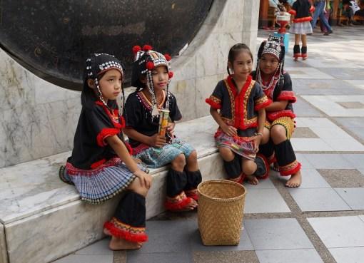 Ethnic Hmong girls in Chiang Mai, Thailand.
