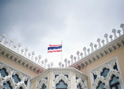 Government building and Thai flag