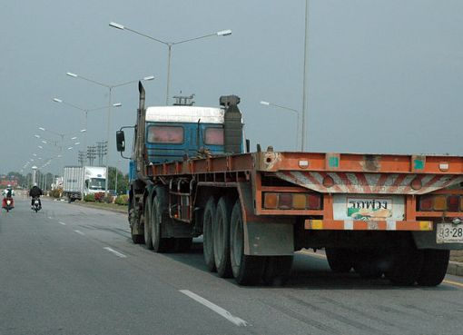 Lorries at Kerry Siam Seaport, Thailand