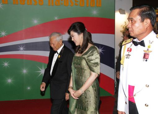Yingluck Shinawatra and General Prayut Chan-ocha