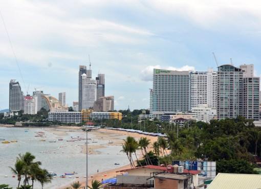 Pattaya skyline and beach
