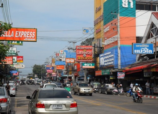 Busy street in Pattaya