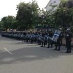 Bangkok police reclaim Makkhawan Bridge rally site