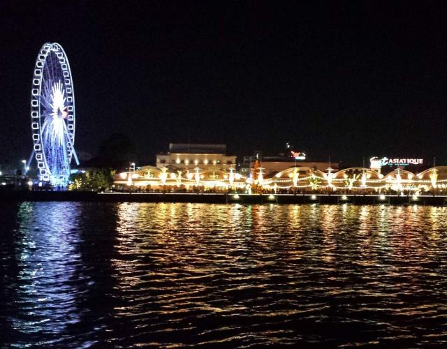 boat ride to asiatique night market
