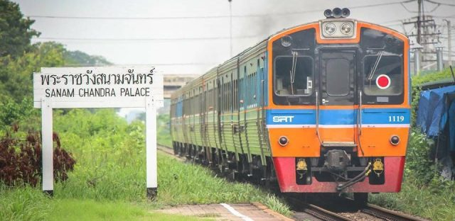 Trains in the thailand