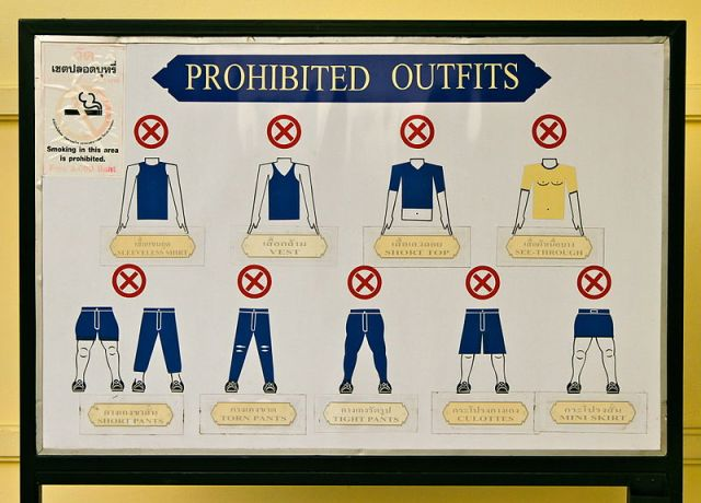 bangkok temple Dress Code
