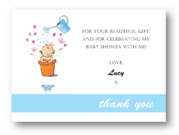 Thank You Letter for Baby Shower