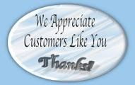 Thank you for being a good customer with appreciation