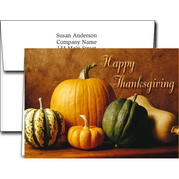 Imprinted Thanksgiving cards for business Order Promotional Products