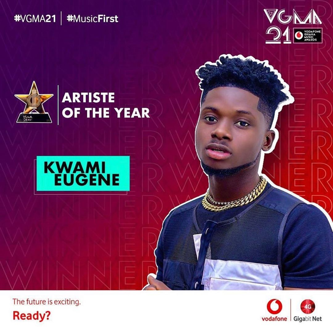 2020 VGMA Artiste Of The Year