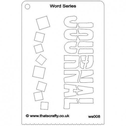 That\u0027s Crafty! Word Series Stencil - Happy - WS007 Thats Crafty