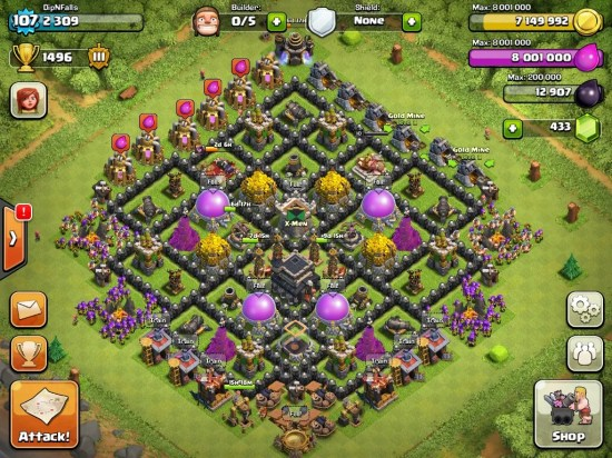 Defense at Clash of Clans: clash of clans best defense town hall 9