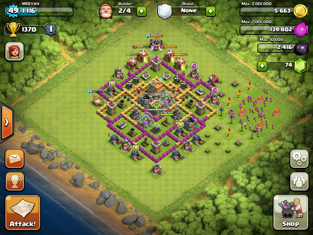 Top 10 Clash Of Clans Town Hall Level 7 Defense Base Design