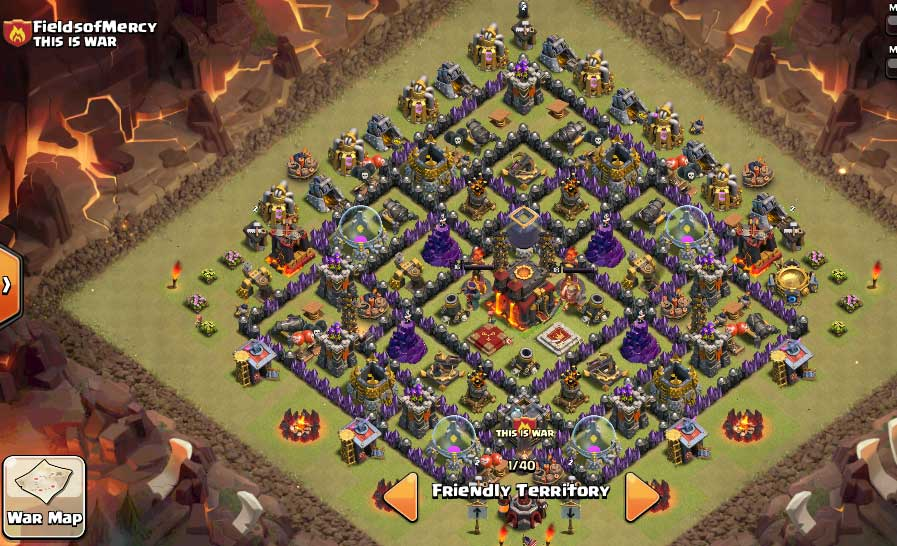 Clash of Clans Defense Town Hall Level 10