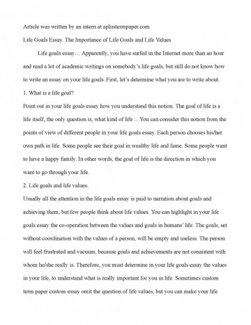 017 Essay On Achieving Goal Example Collection Of Solutions Goals