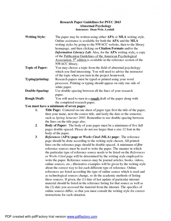 001 Essay Example Psychology Writing Science Topic As Service Jmdnp