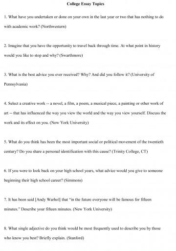 001 Good College Essay Topics Example ~ Thatsnotus