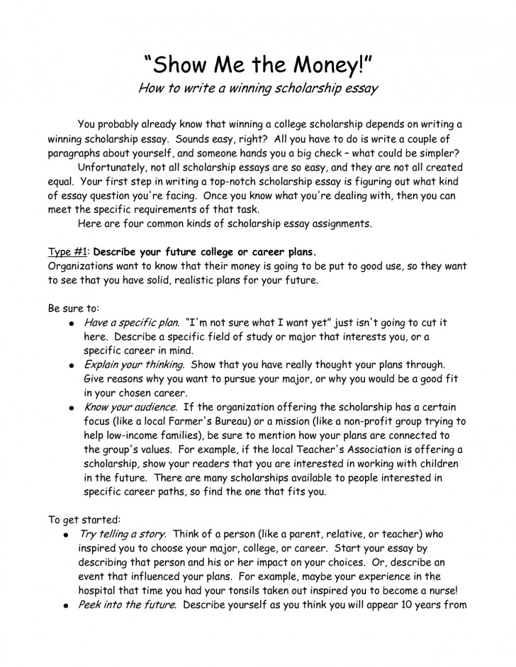 024 Essay Example Scholarships With Essays Samples Of Scholarship