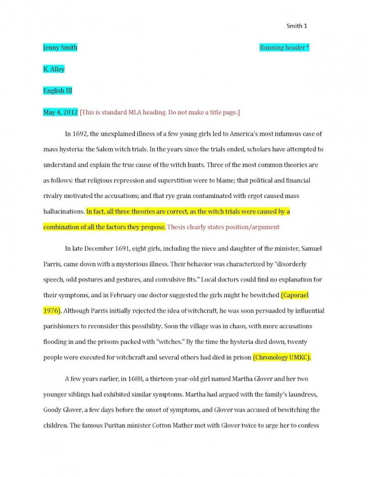 007 Essay Example Model Mla Paper Citation Examples In ~ Thatsnotus