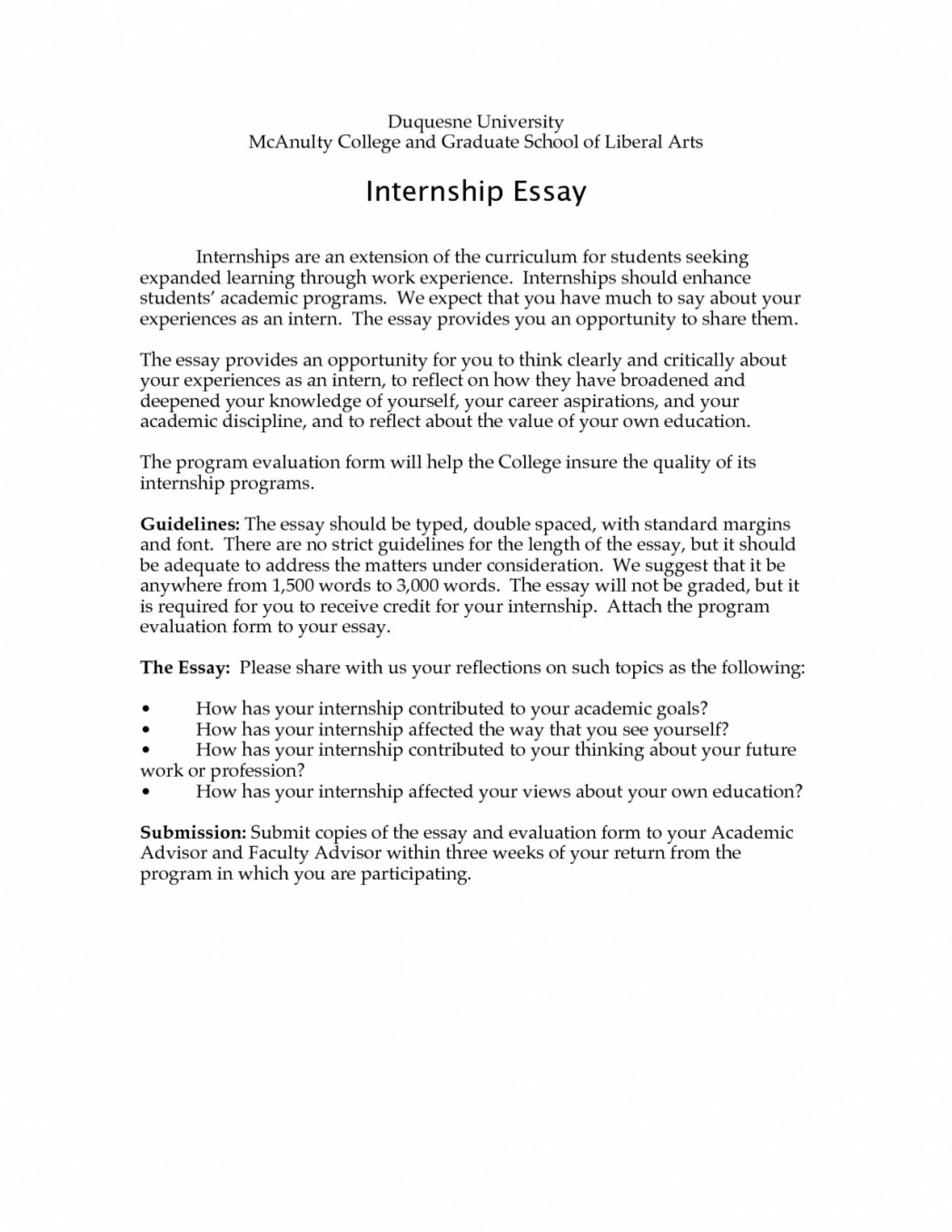 example of experience category on resume